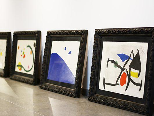 32幅作品中的3幅。于Santillana del Mar展览至9月14日。