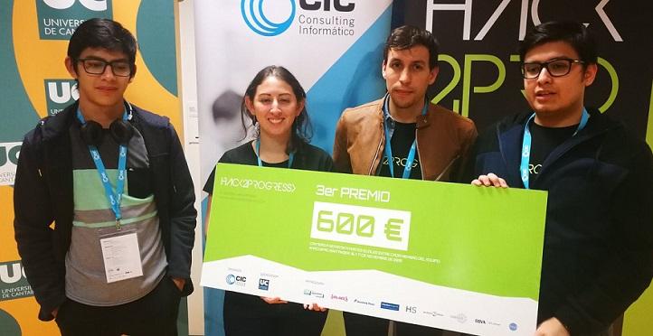 四名信息工程学位的学生在Hack2Progress比赛中获奖