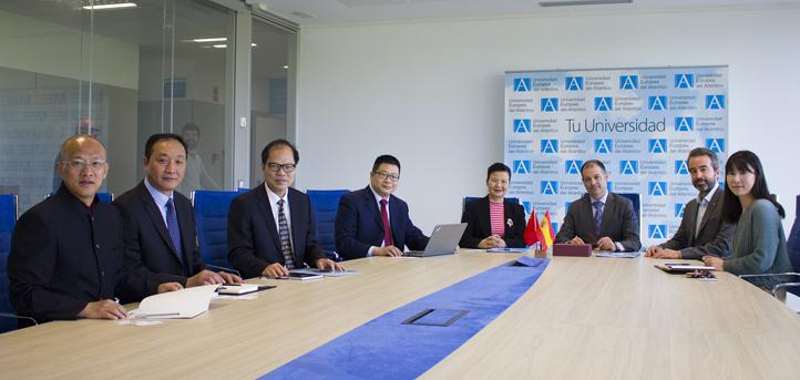 广州体育学院代表团访问UNEATLANTICO,并签署合作协议