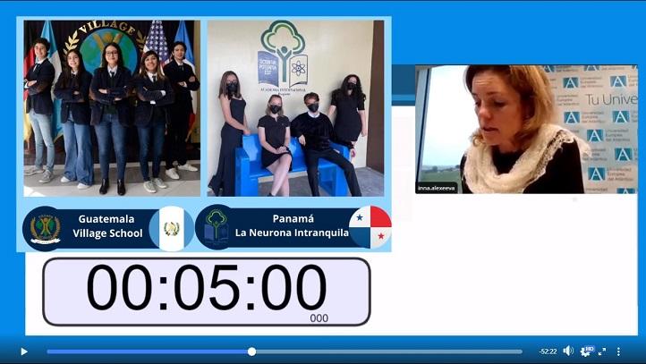 危地马拉El Village School在与La Neurona Inquieta的决赛中赢得了第一届泛美辩论联盟的冠军