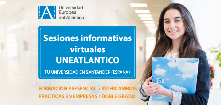UNEATLANTICO组织有关校园内学习的职业虚拟信息讲座