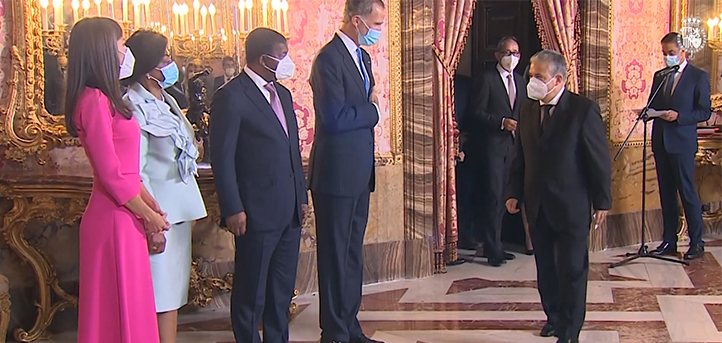 FUNIBER校长出席安哥拉总统的皇家招待会